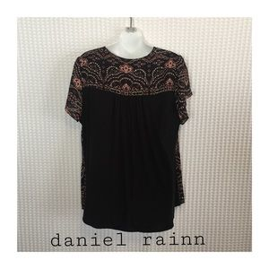 Daniel Rainn Tops - Amelia Solid Back Short Sleeve Blouse.